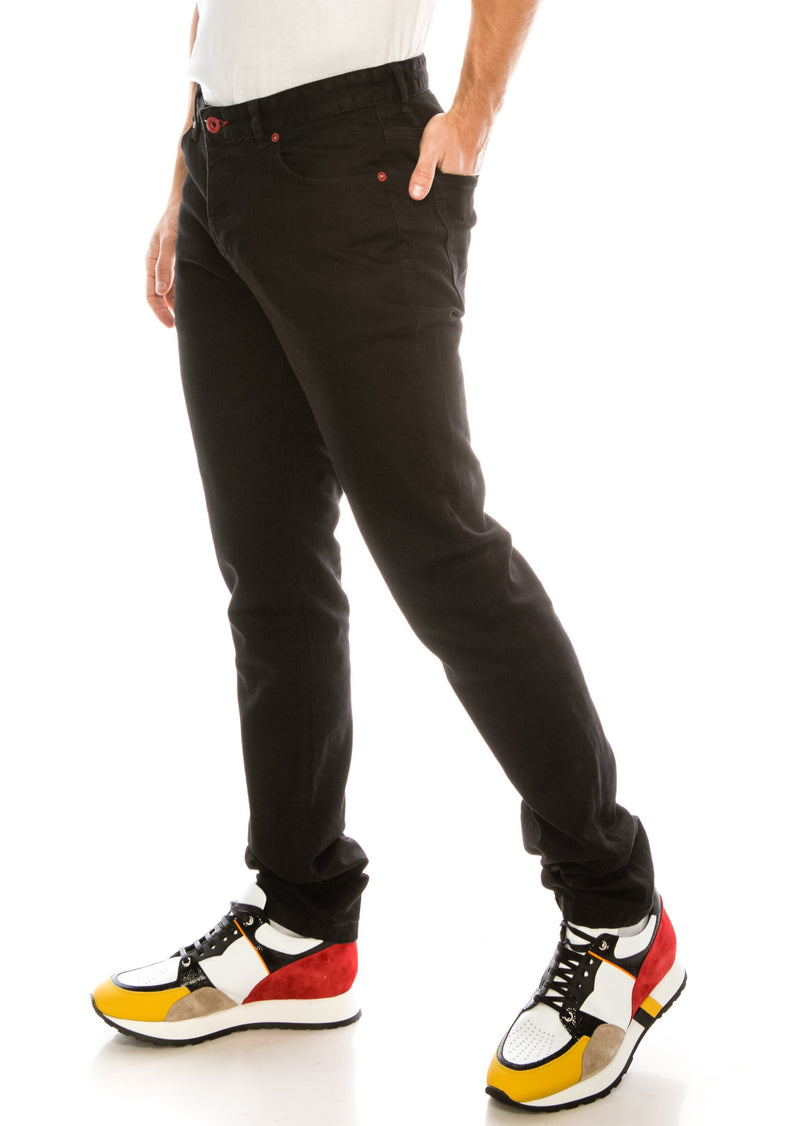 Red Rivet Lux Denim - BLACK - Ron Tomson