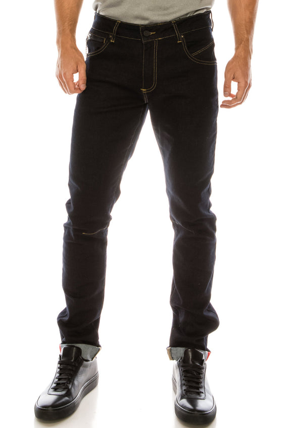 RT Inner Red Skinny Denim - Navy 1 - Ron Tomson