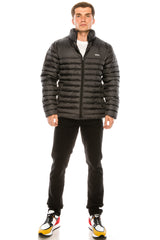 Reflector Logo Quilted Jacket - ANTHRACITE - Ron Tomson