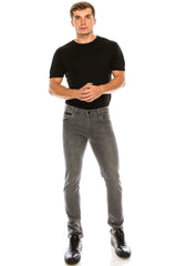 RT Inner Red Skinny Denim - Grey - Ron Tomson