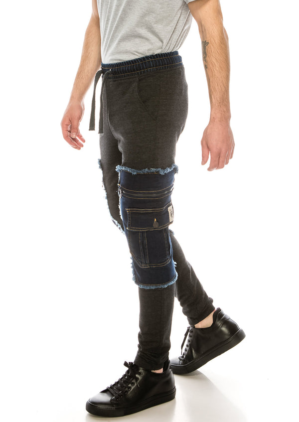 2629-DARK NAVY ANTHRACITE PANTS - Ron Tomson