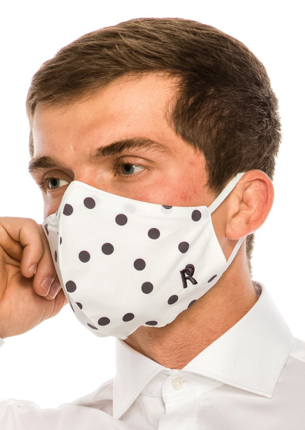 Face masks reusable and washable - Black Polka Dot