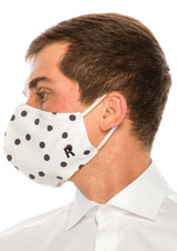 Face masks reusable and washable - Black Polka Dot - Ron Tomson