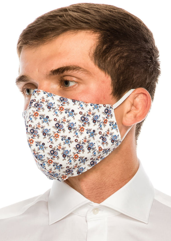 Face masks reusable and washable - Blue Orange