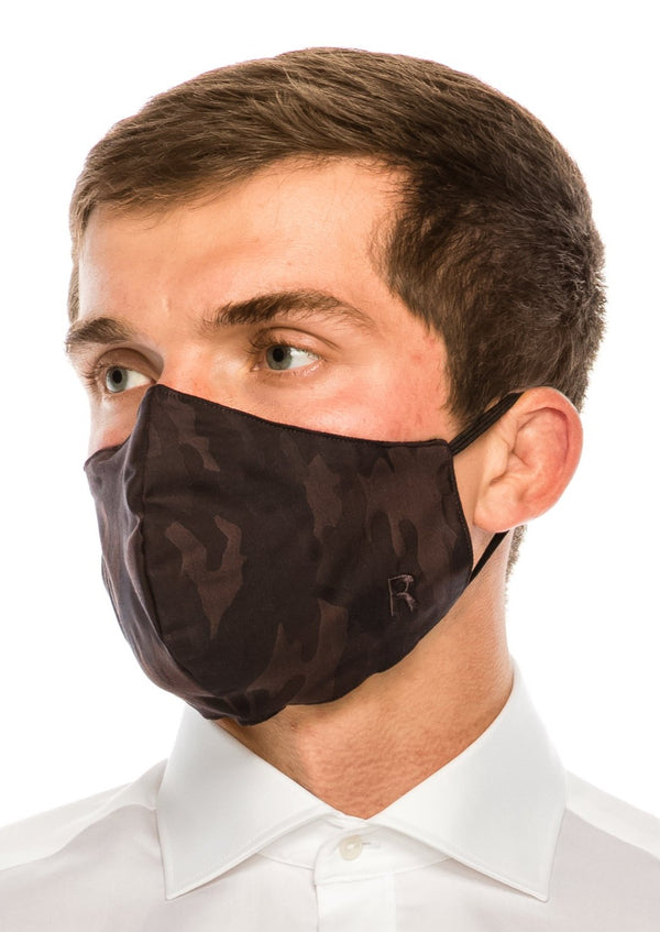 Face masks reusable and washable - Brown Camouflage - Ron Tomson