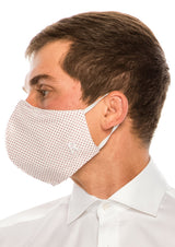 Face masks reusable and washable - White Red - Ron Tomson