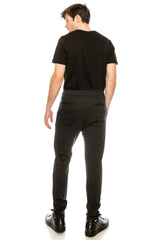 COTTON BLEND KNIT SWEATPANTS - ANTHRACITE - Ron Tomson