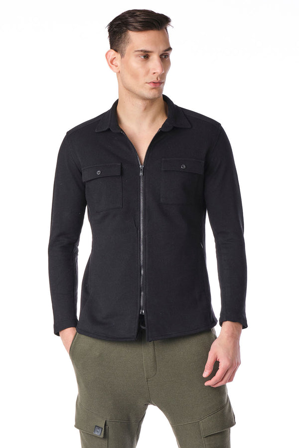 Full Zip Tech Shirt - Black