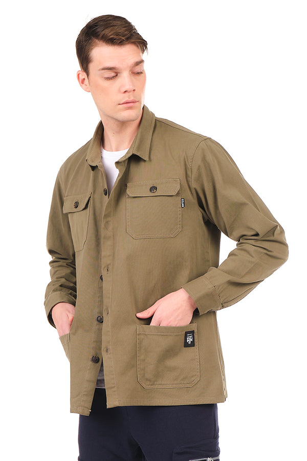 4886-GREEN SHACKET - Ron Tomson