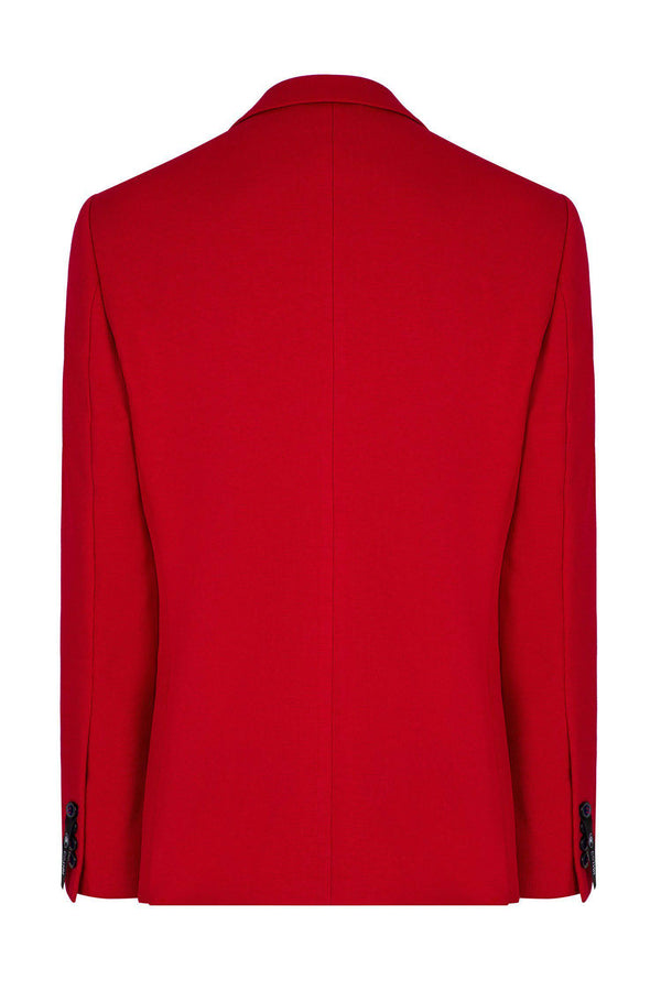 Two Button Sport Jacket  - Red - Ron Tomson