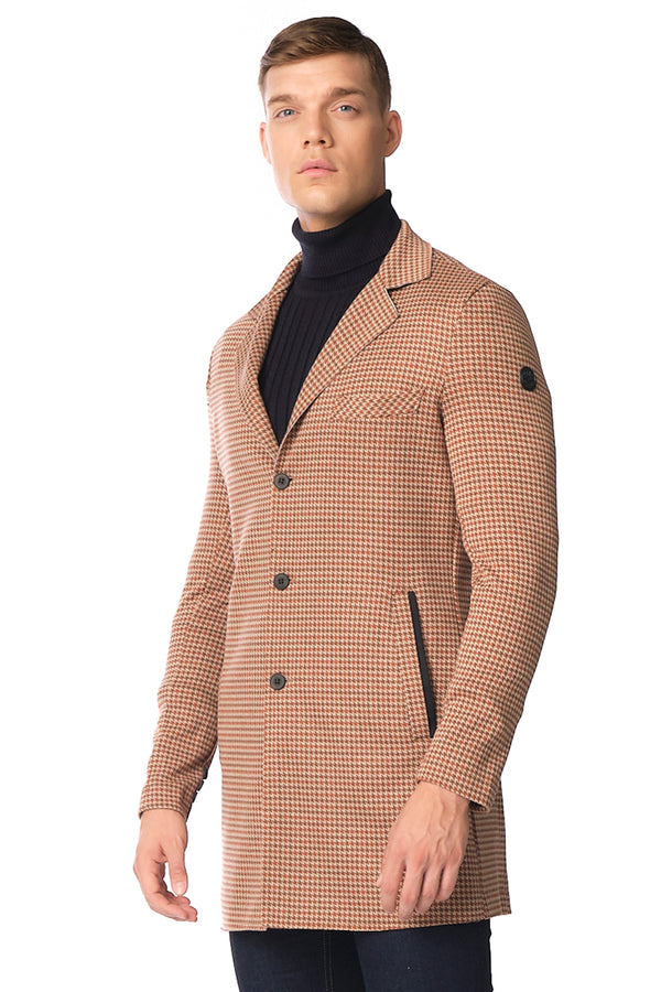 Long Lightweight Fitted Blazer - Brown - Ron Tomson