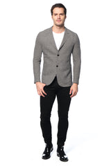 RAW EDGE FITTED Knit Jacket - BLACK WHITE - Ron Tomson