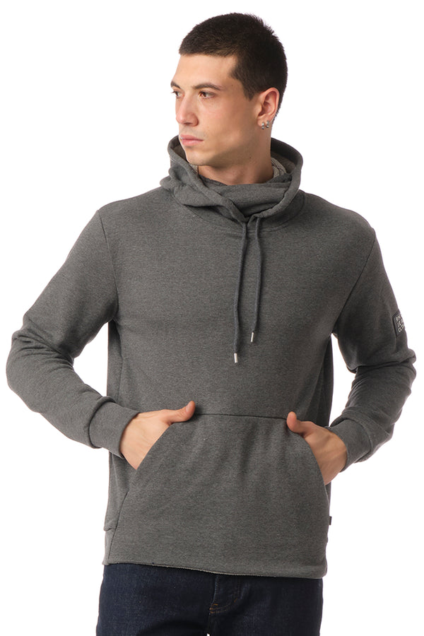 Classic Pullover with Face Covering  - ANTHRACITE - Ron Tomson