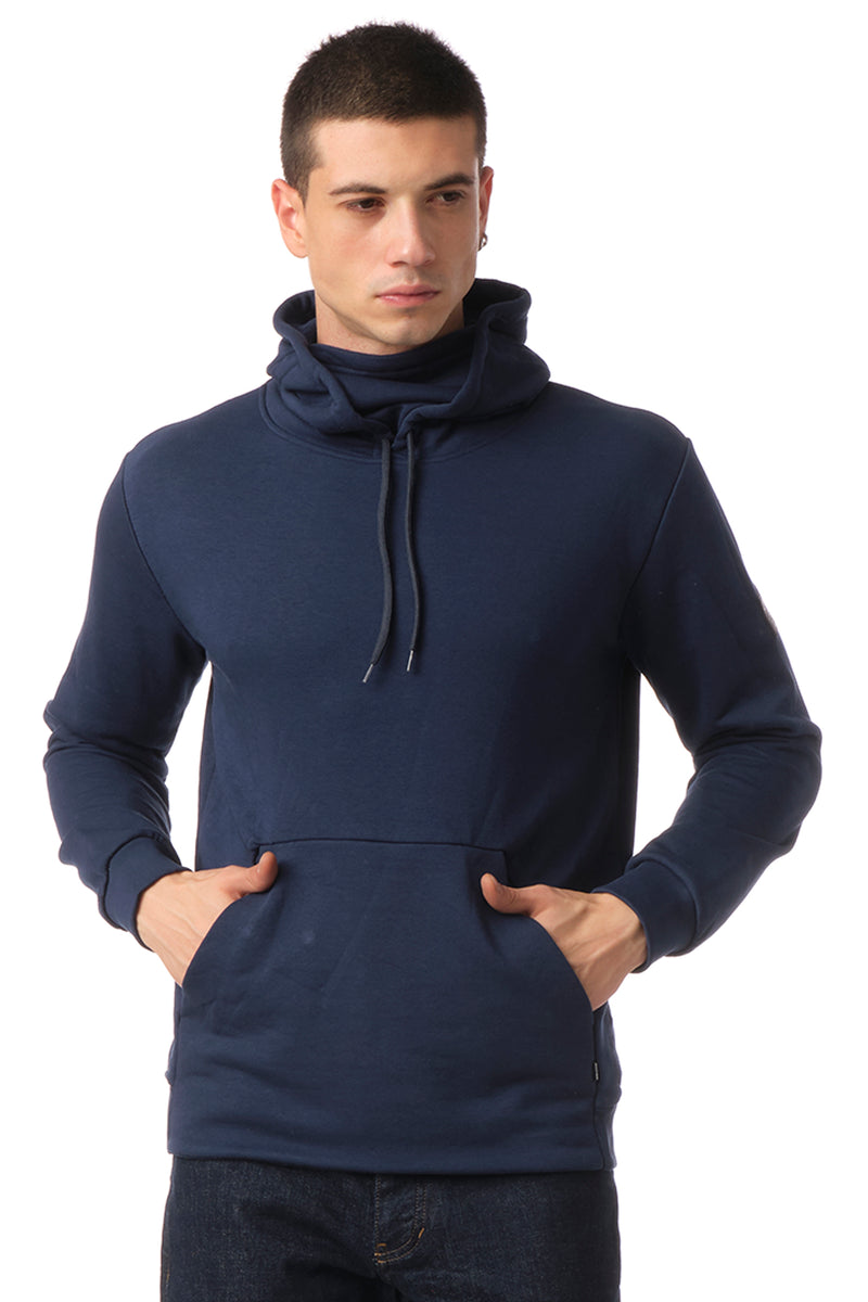 Classic Pullover with Face Covering - NAVY - Ron Tomson