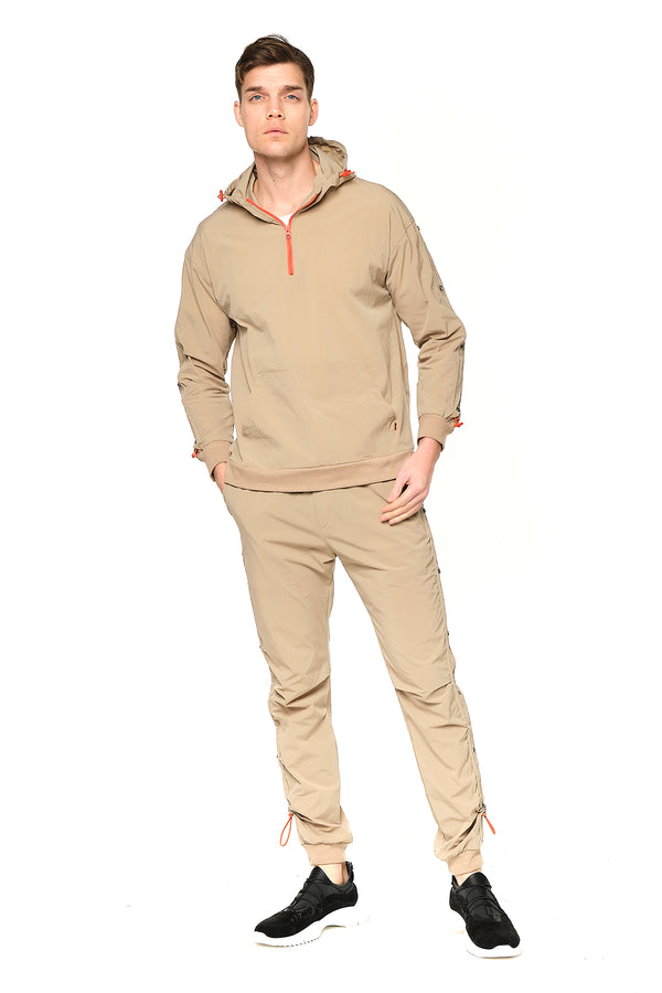 Eyelet Sweat Zip Hoodie - VIZON - Ron Tomson