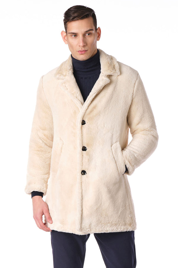 CLASSIC LONG TEDDY COAT II - ECRU