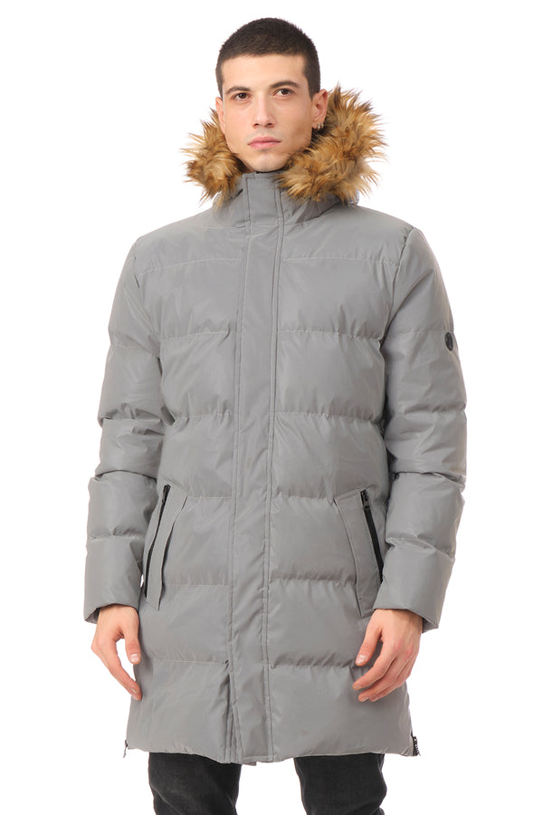 Faux Fur Padded Parka - REFLECTOR - Ron Tomson