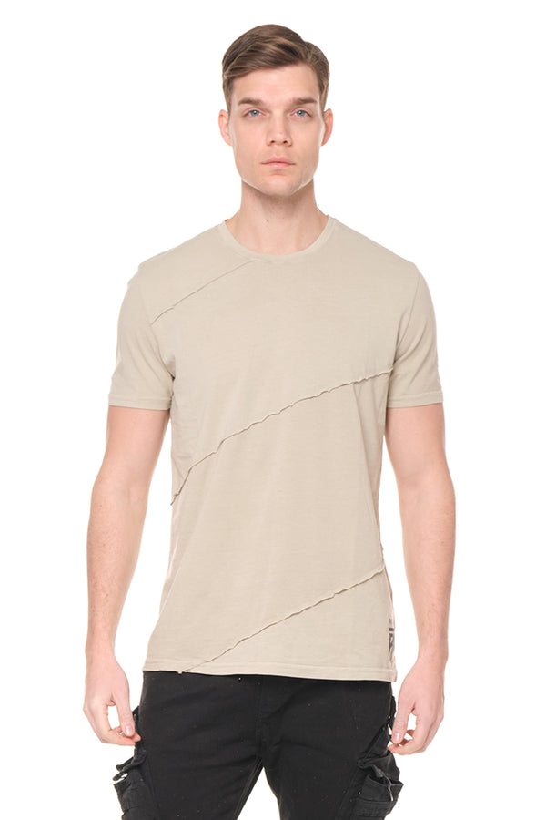 Scarred Cotton Tee  - Sage Green - Ron Tomson