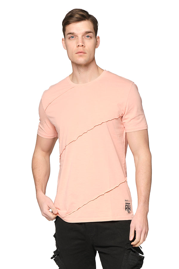 Scarred Cotton Tee - PINK - Ron Tomson