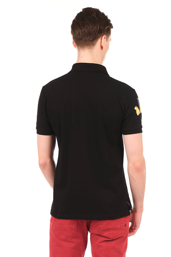 8129-BLACK POLO SHIRT - Ron Tomson
