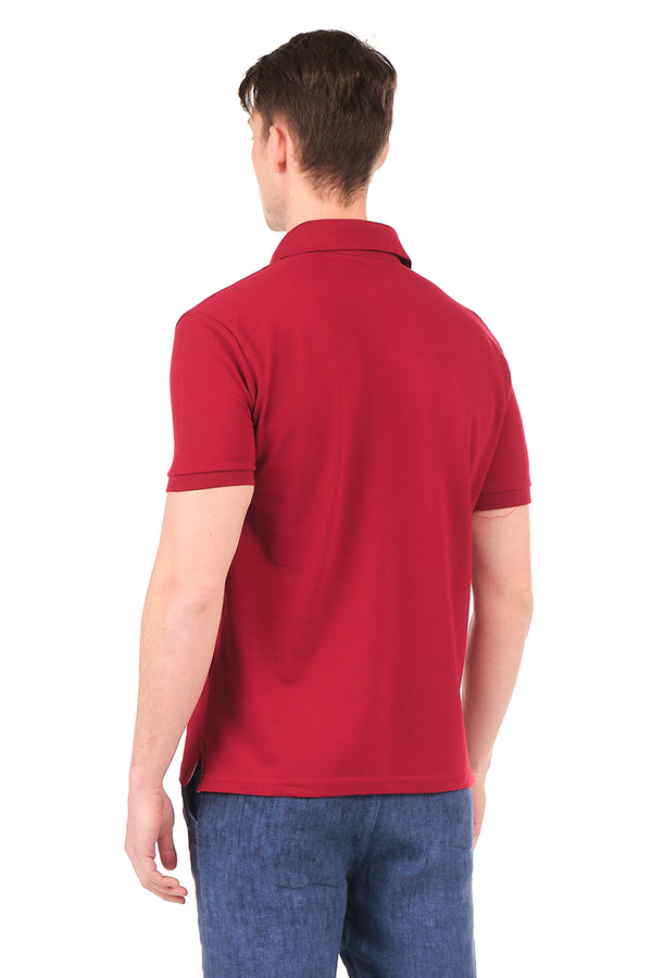 8129-BORDEAUX POLO SHIRT - Ron Tomson