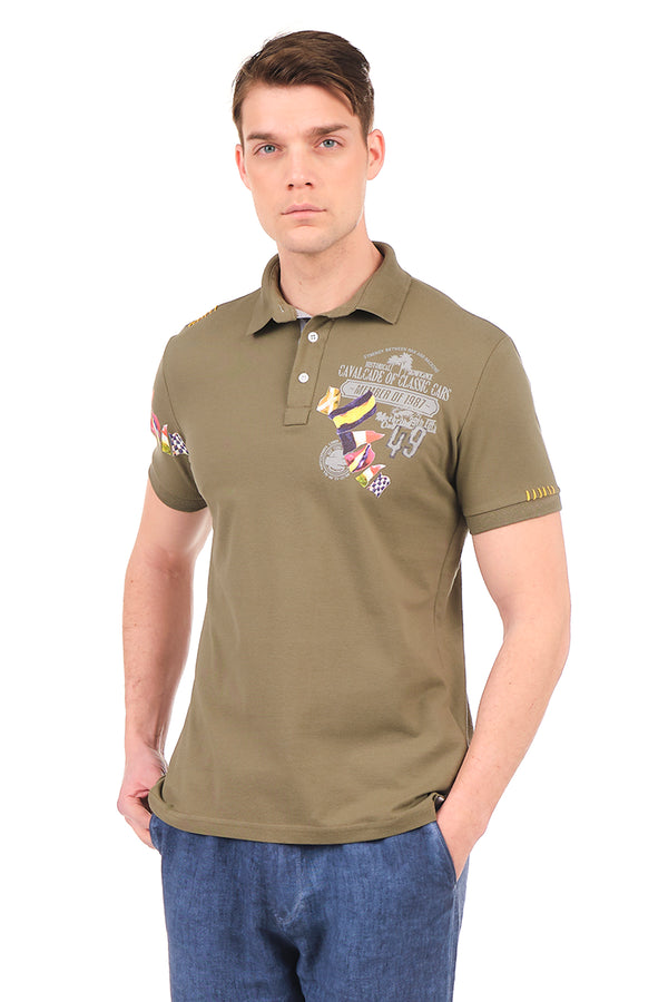 8129-KHAKI POLO SHIRT - Ron Tomson