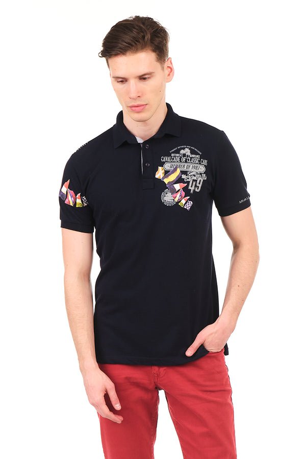 8129-NAVY POLO SHIRT - Ron Tomson