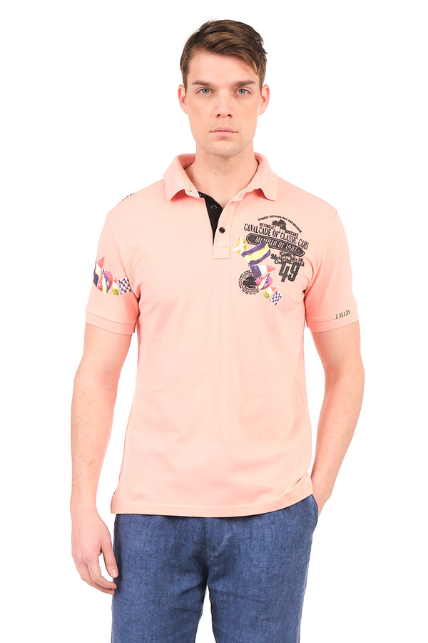 8129-PINK POLO SHIRT - Ron Tomson
