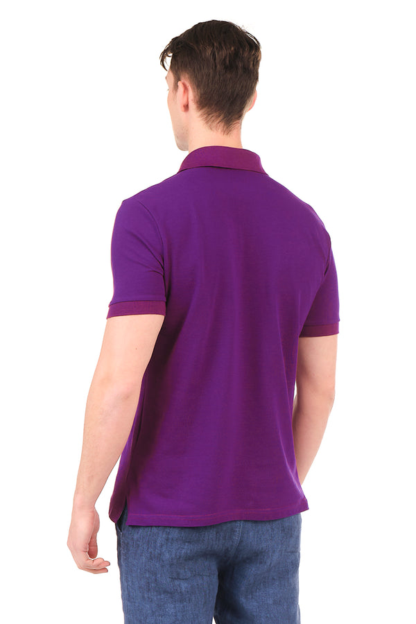 8129-PURPLE POLO SHIRT - Ron Tomson