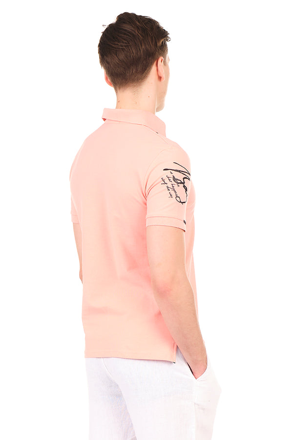 8130-PINK POLO SHIRT - Ron Tomson