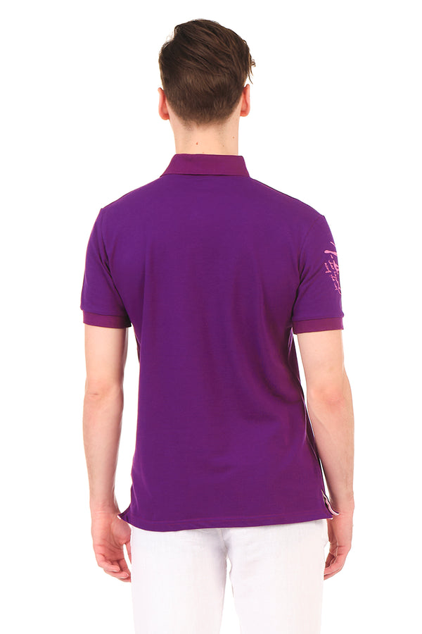 8130-PURPLE POLO SHIRT - Ron Tomson