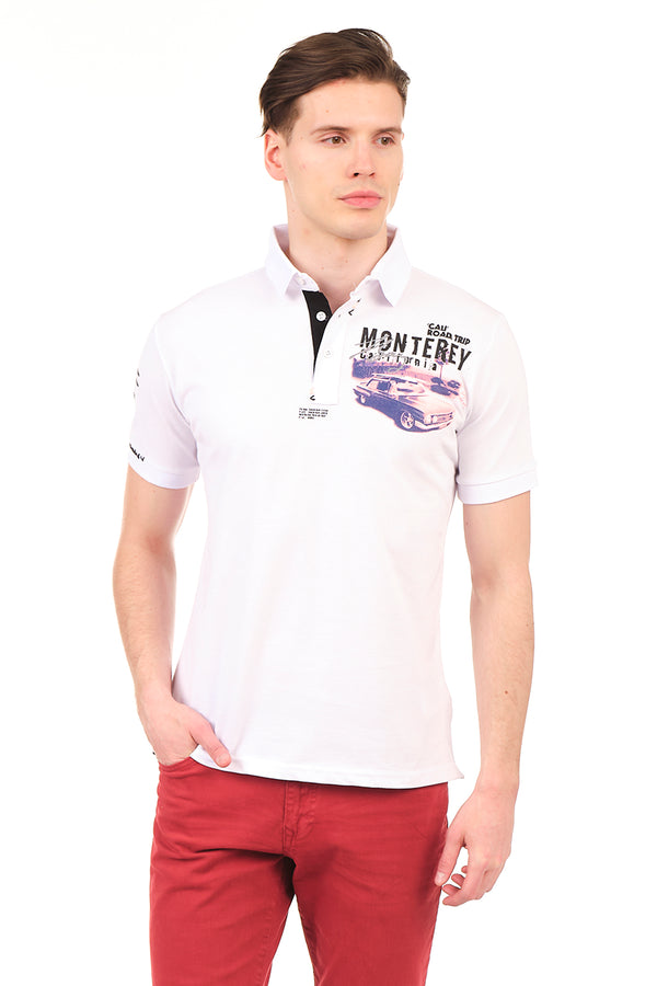 8130-WHITE POLO SHIRT - Ron Tomson