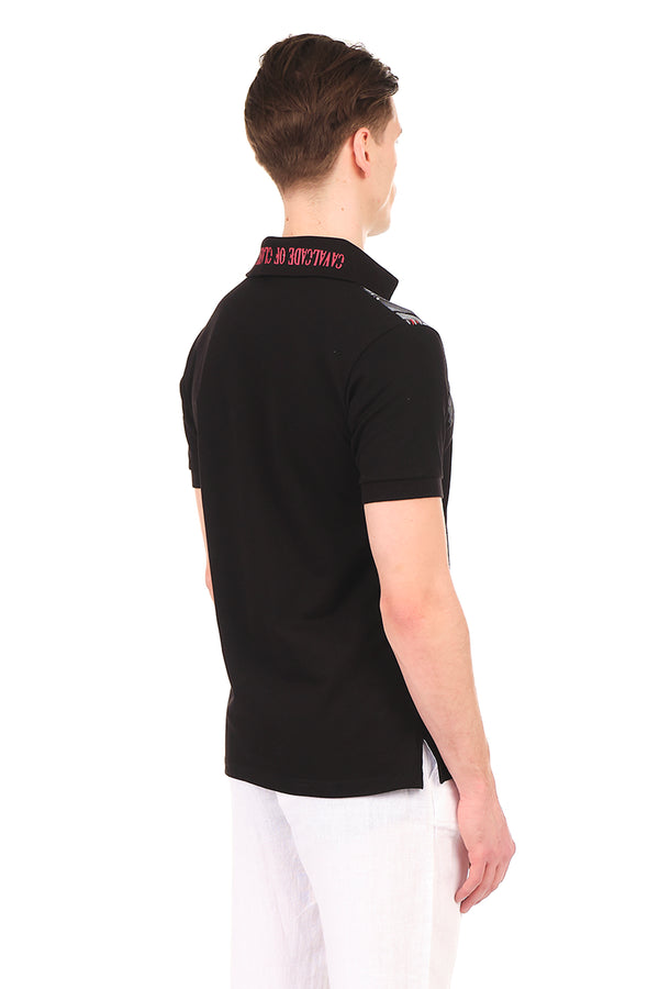 8131-BLACK POLO SHIRT - Ron Tomson