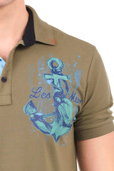 8131-KHAKI POLO SHIRT - Ron Tomson