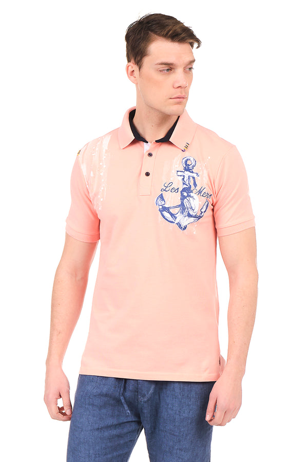 8131-PINK POLO SHIRT - Ron Tomson