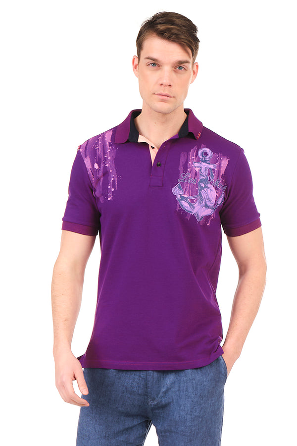 8131-PURPLE POLO SHIRT - Ron Tomson