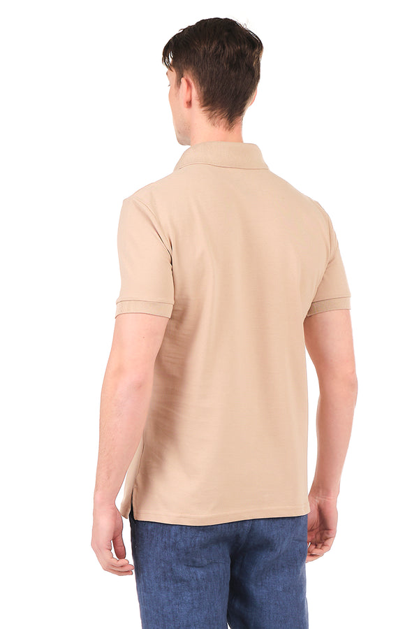 8131-STONE POLO SHIRT - Ron Tomson