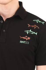 8132-BLACK POLO SHIRT - Ron Tomson