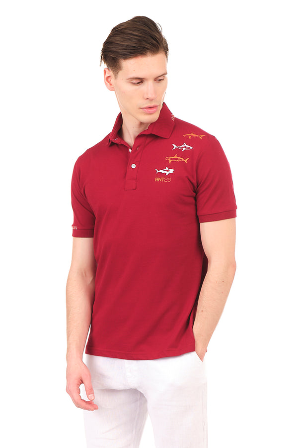 8132-BORDEAUX POLO SHIRT - Ron Tomson