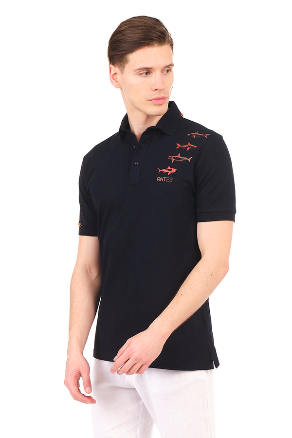8132-NAVY POLO SHIRT - Ron Tomson