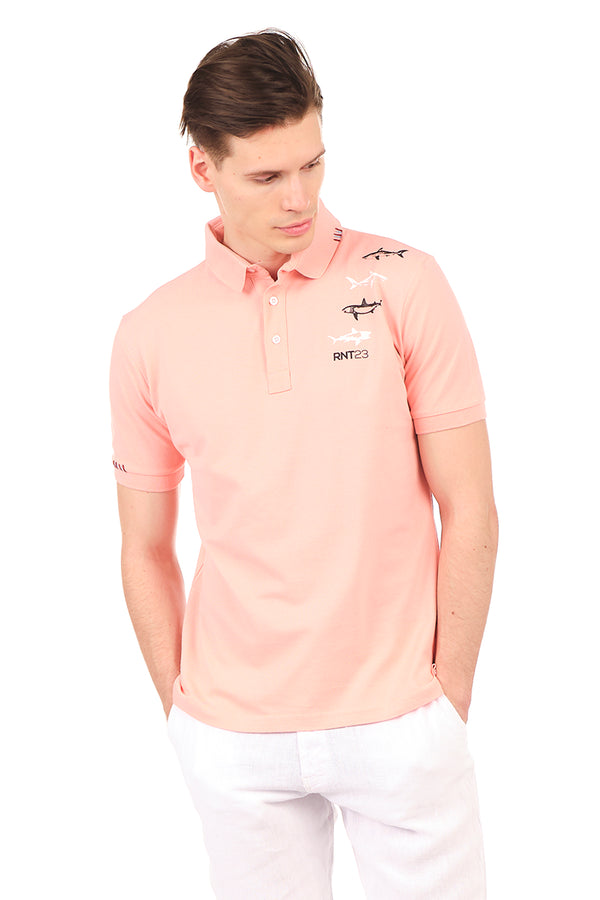 8132-PINK POLO SHIRT - Ron Tomson