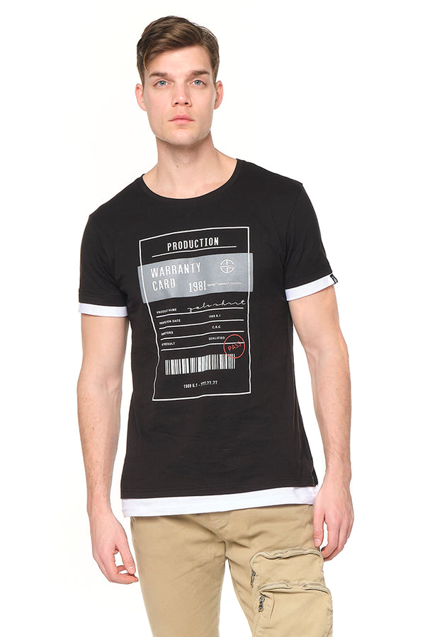 The Barcode Tee - BLACK - Ron Tomson