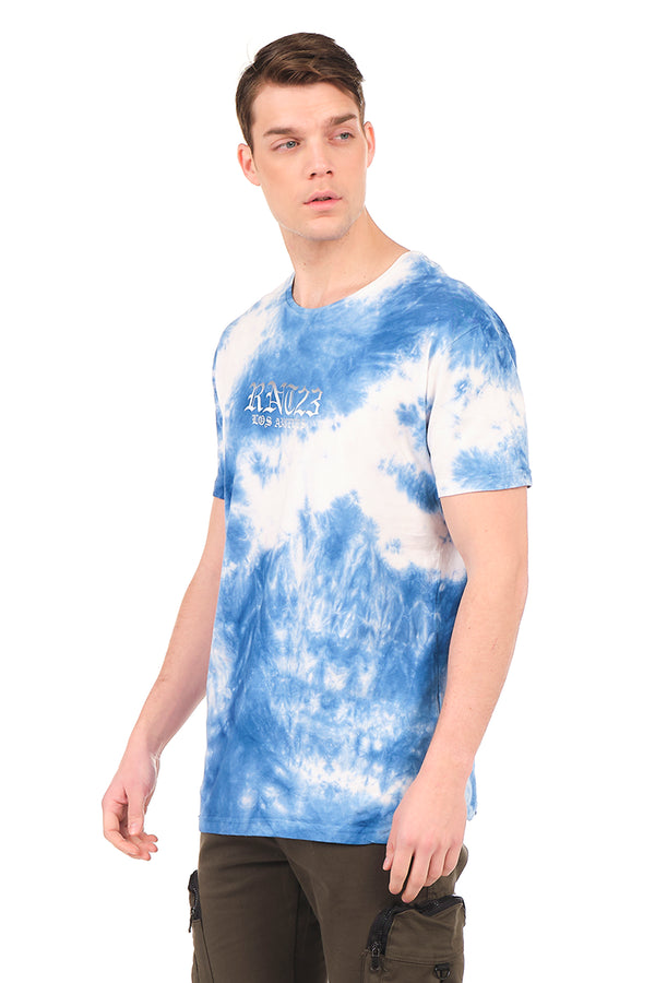 8158 BLUE ECRU T-SHIRT