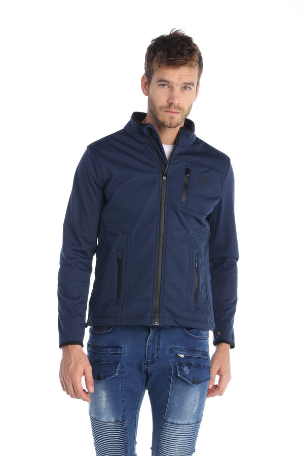 Insulated Stretch Trainer Jacket - NAVY