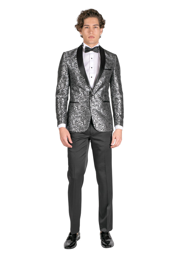 Abstract Floral Tuxedo - Black - Ron Tomson