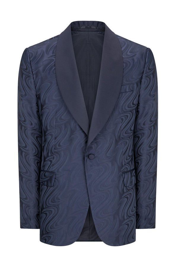 ABSTRACT SHAWL LAPEL TUXEDO - NAVY