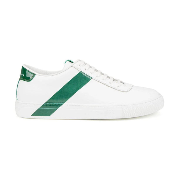 All Leather Court Sneakers  - WHITE FOX
