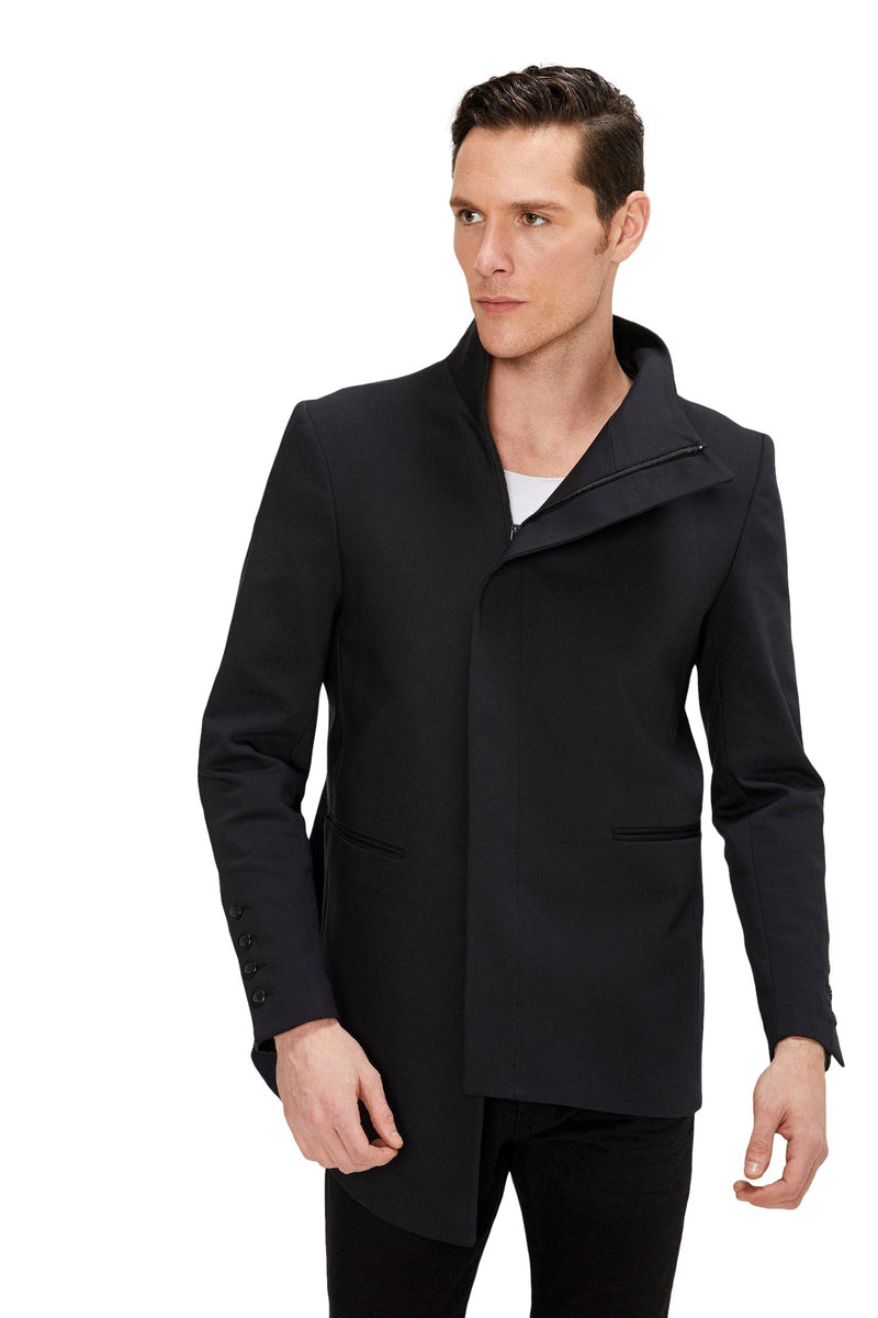 Asymmetric Jacket - Black - Ron Tomson