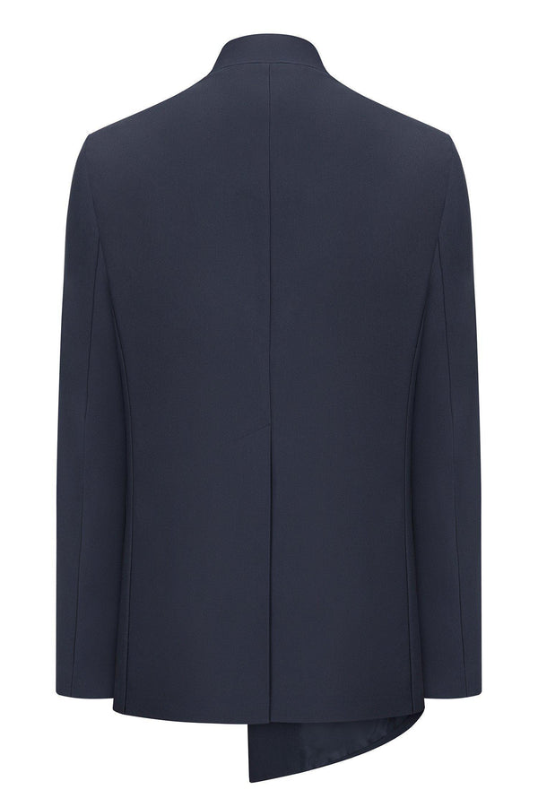 Asymmetric Jacket - Navy