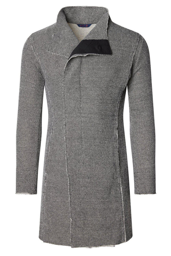 Asymmetric Rebel Cardigan - Black White - Ron Tomson